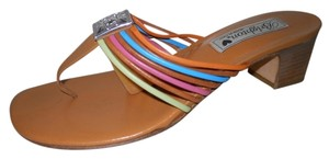 Brighton Leather tan multi Sandals