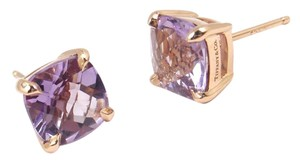Tiffany & Co. Rare Tiffany & Co Sparklers 18K Rose Gold Lavender Amethyst Stud Earrings w/box