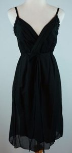 J.Crew short dress Black 0 Thessaly Beach Embossed Silk Cotton on Tradesy
