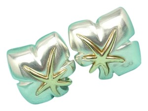 Tiffany & Co. Vintage Tiffany & Co Sterling Silver 18K Gold Ivy Starfish Earrings