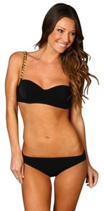 Michael Kors Michael Kors Runway Collection Bosporus Chain Black Bikini Size 4 NWOT