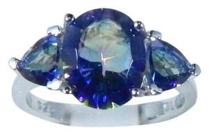 9.2.5 Oval Shaped Mystic Blue Quartz Sterling Silver Ring