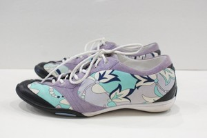 Emilio Pucci Lavender Print Sneakers Or Multi-Color Flats