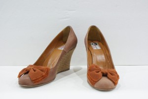 Lanvin Leather Wedge Espadrille With Bow Or Fit Like Brown Platforms