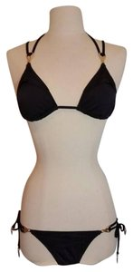 Trina Turk Black Strappy Bikini Set