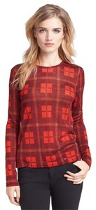 Marc Jacobs Sheer T Shirt red plaid