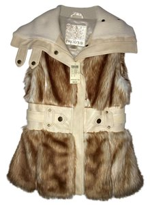 Arden B. Fur Fur Cute Tan Vest
