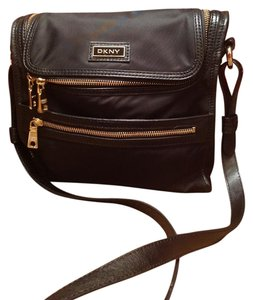 DKNY Soft Nylon Black Messenger Bag