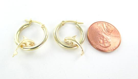 Other 14KT YELLOW GOLD HOOP WITH DOLPHINS JUMPING 1.5 GRAMS FINE JEWELRY JEWEL WOMAN