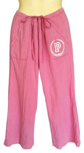 Victoria's Secret Drawstring Casual Jogging Wide Leg Baggy Pants Fuchsia, Pink