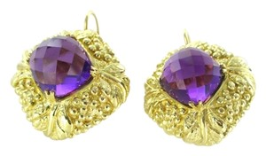 Other 18KT YELLOW GOLD AMETHYST FACETED 31.4 GRAMS EARRINGS FINE JEWELRY WOMAN MODERN