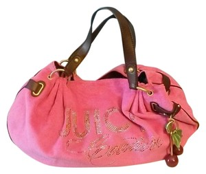 Juicy Couture Cotton Leather Large Tote in Pink
