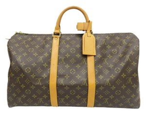 Louis Vuitton Lv Keepall 50 Tote Monogram Travel Bag