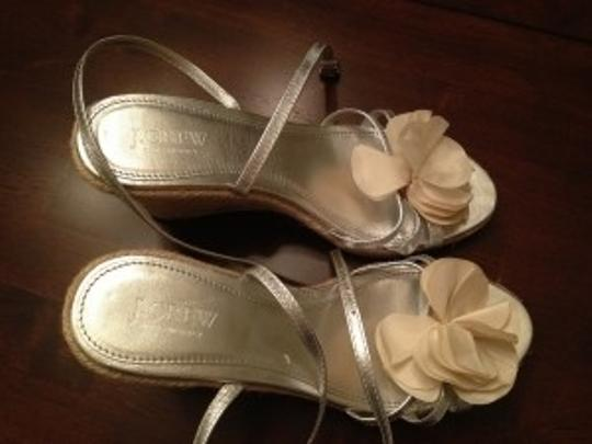 J.Crew Silver Wedges