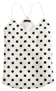 J.Crew Carrie Cami Top Black and White