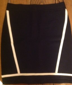 Herv Leger Skirt Black with white