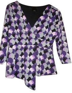 JTB Top multi purple, grey, black, lavender