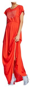 Free Love Red-Orange Maxi Dress by Wildfox