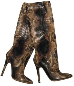 Jimmy Choo Snake Runway Stiletto Multi Boots