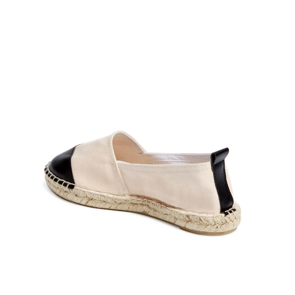 2c42fab2a40 Carvela Kurt Geiger Black/Natural New Leather Cap Toe Espadrille Slip-on  Flats Size EU 41 (Approx. US 11) Regular (M, B) 54% off retail