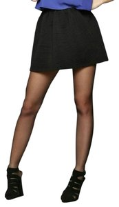 Urban Outfitters Nwot Ribbed Mini Skirt Black
