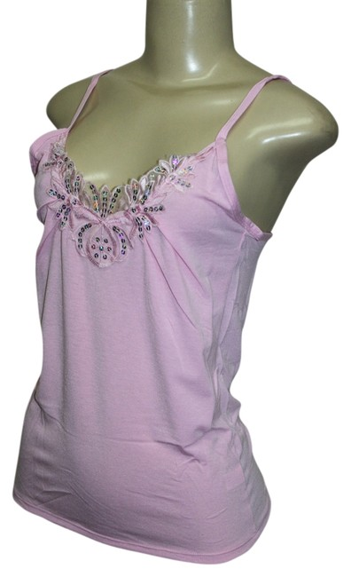 Preload https://item5.tradesy.com/images/pink-sleeveless-sequin-tank-topcami-size-8-m-1668344-0-0.jpg?width=400&height=650