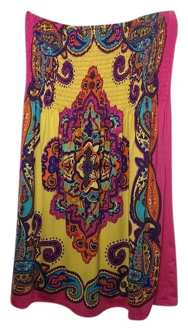 Forever 21 short dress pink colorful Beach Summer Cute on Tradesy