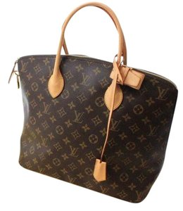 Louis Vuitton Satchel in Monogram Browns, Burgundy