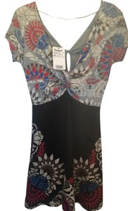 Desigual short dress BLACK/MULTICOLOR on Tradesy