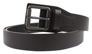 Gucci Dark Brown Leather Belt with Square Metal Buckle 110/44 353474 2140