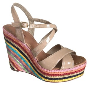 Kate Spade Nude / Multi color Wedges