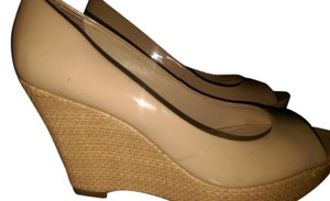 Franco Sarto Some Scuffs BEIGE Wedges