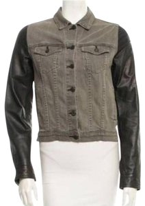 Rag & Bone Black and greenish denim like picture Womens Jean Jacket