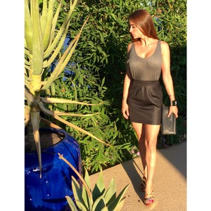 Rory Beca short dress Grey & black on Tradesy