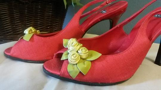 Casadei Vintage Made In Italy Red Sandals
