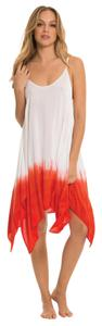 Elan short dress White/Tomato on Tradesy