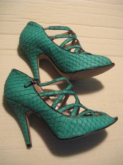 Reiss Snake Reptile Summer Cage Turquoise Pumps