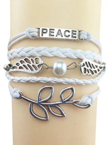 SALE! BRAND NEW! HANDCRAFTED LEATHER BRAIDED BRACELET WITH SILVER PLATED CHARMS!