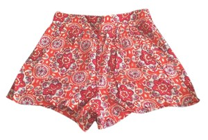 Mossimo Supply Co. Target Printed Rayon Floral Dress Shorts Orange