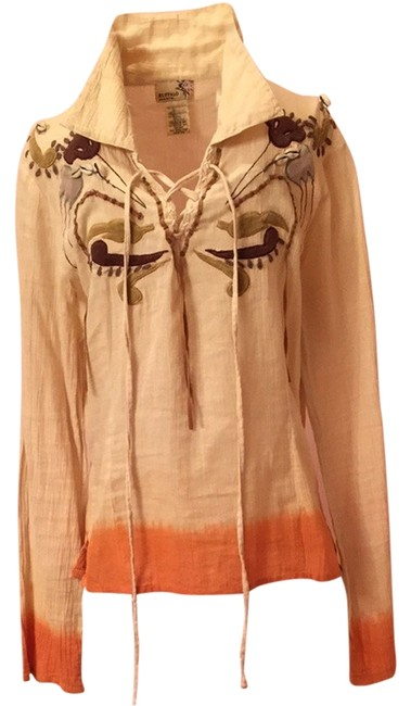Buffalo David Bitton Top Cream/orange
