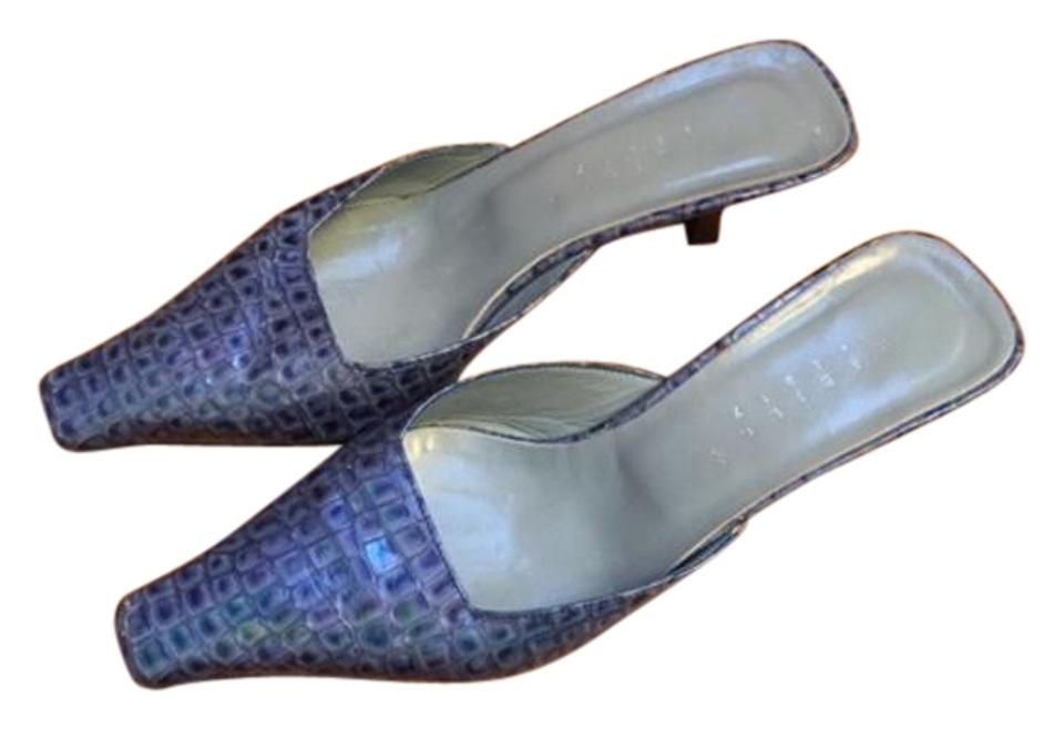 Light Blue Alligator In Made In Alligator Italy Mules/Slides f5cb6b