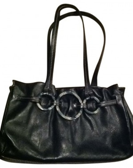 Preload https://item5.tradesy.com/images/adrienne-vittadini-circle-accented-high-end-handbag-black-satchel-166859-0-0.jpg?width=440&height=440