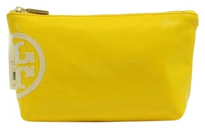 Tory Burch Tory Burch Beach Dipped Small Slouchy Cosmetic Bag, Yellow