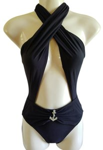 Gottex New GOTTEX Twist Keyhole Front Anchor Swimsuit sz 8