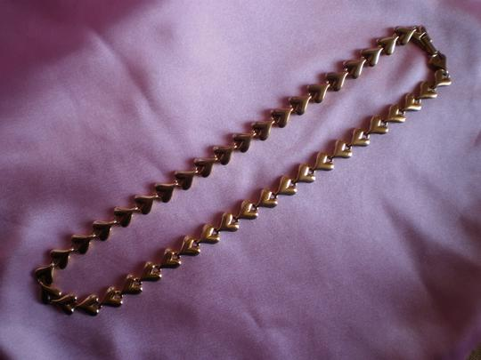 Other Like New Gold Plated Hearts Necklace