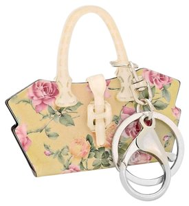 Floral Mini Tote Bag KeyChain Bag Charm Key Holder