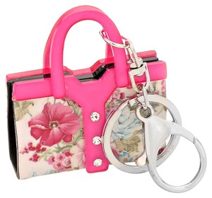 Other Pink Floral Mini Tote Bag KeyChain Bag Charm Key Holder