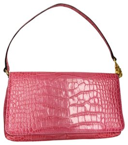 Kate Spade Crocodile Leather Flap Bright Shoulder Bag
