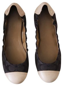 Coach Signature Leather Brown Flats