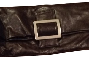 Other 70's 1970 Fold Over Silver Buckle Soft Boho Back To School Handbag Buckle Folding Tote Mod Earthy Edgy Twiggy Cool brown Clutch